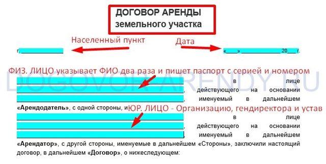 образец договора на аренду машины с ип