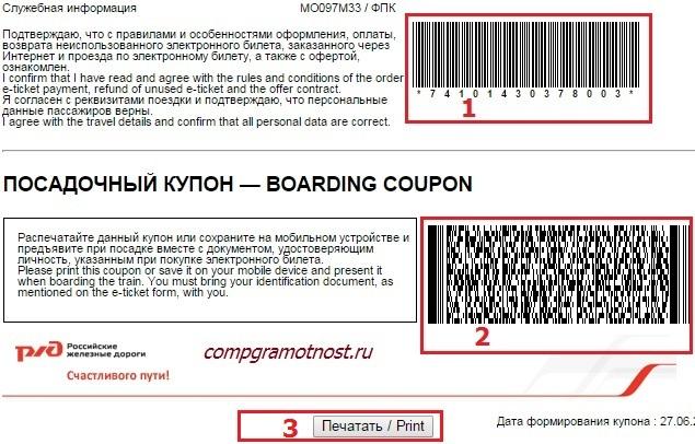 Как пользоваться электронным билетом?