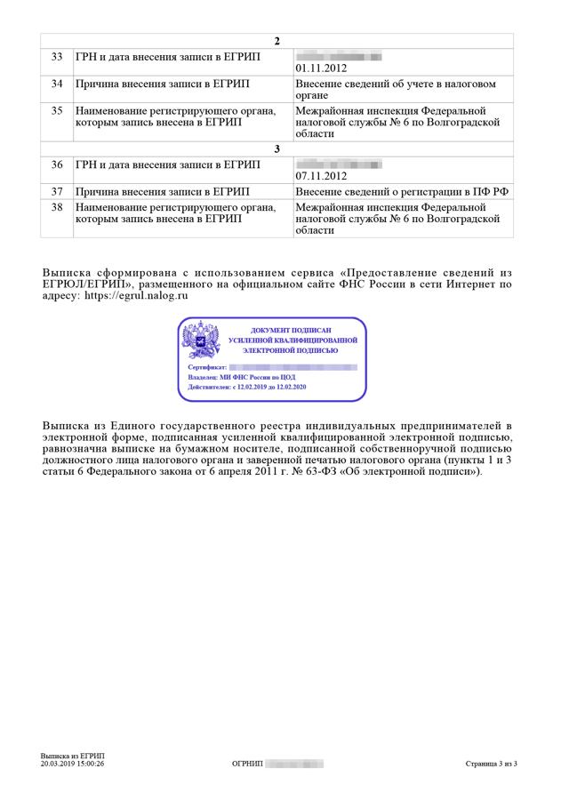 Адрес ИП в выписке из ЕГРИП