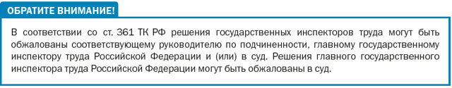 Предписания государственных инспекторов труда