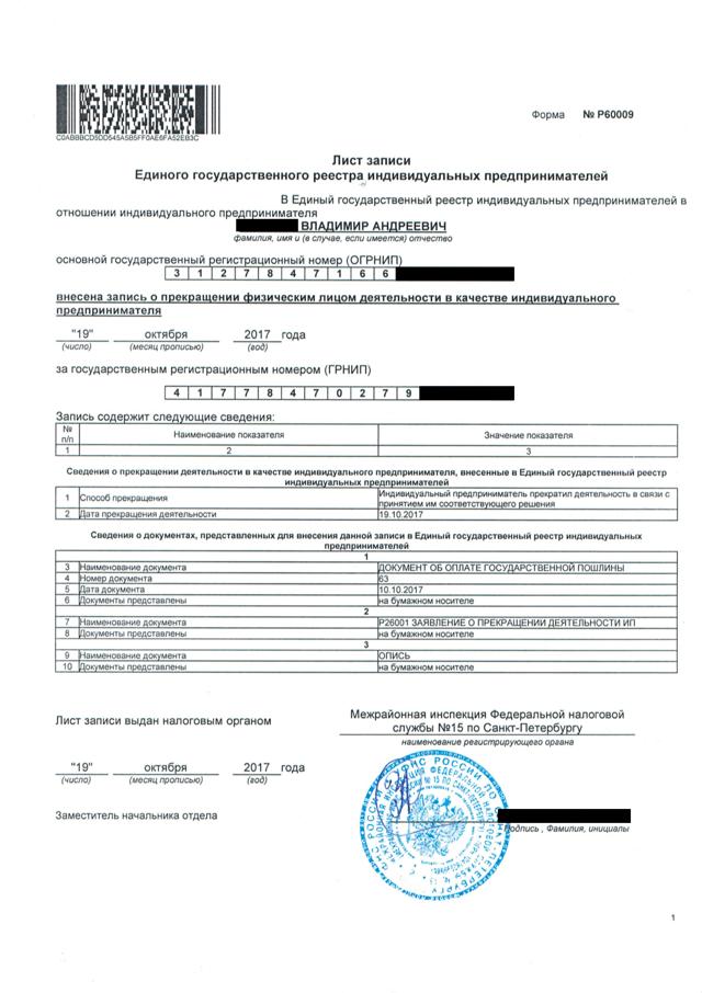 Какие документы нужны для закрытия ИП - список
