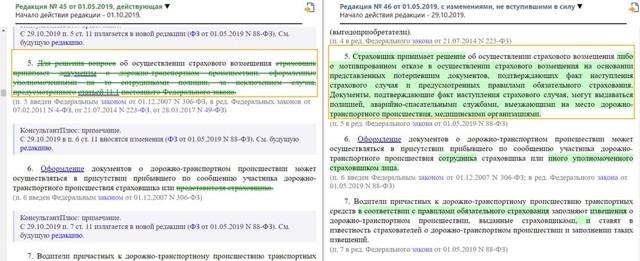 Изменения в закон об ОСАГО приняты и вступят в силу с 29.10.2019