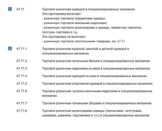 Виды деятельности ИП - список